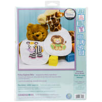 """Dimensions/Baby Hugs Stamped Cross Stitch Kit 9""""X14"""" 2/Pkg-Baby Express Bibs"""
