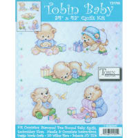 "Tobin Stamped Quilt Cross Stitch Kit 34""X43""-Baby Bears"