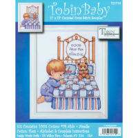 "Tobin Counted Cross Stitch Kit 11""X14""-Bedtime Prayer Birth Record (14 Count)"