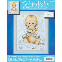 "Tobin Counted Cross Stitch Kit 11""X14""-Angel Birth Record (14 Count)"