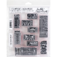"Tim Holtz Cling Stamps 7""X8.5""-Ticket Booth"