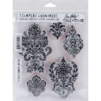 "Tim Holtz Cling Stamps 7""X8.5""-Distress Damask"