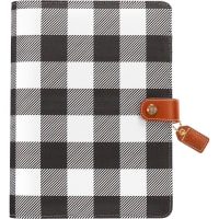 "Color Crush A5 Faux Leather Planner Kit 7.5""X10""-Buffalo Plaid"