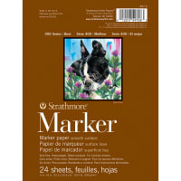 "Strathmore Marker Paper Pad 6""X8""-50lb Smooth 24 Sheets"