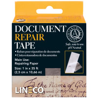 "Lineco Self-Adhesive Document Repair Tape-Transparent 1""X35'"