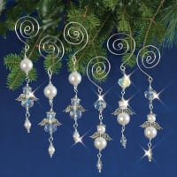 Holiday Beaded Ornament Kit-Dangling Angels Makes 6