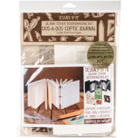 Lineco Books By Hand Blank Cover Bookbinding Kit-Dos-A-Dos Coptic Journal Ivory 4.25x4.25
