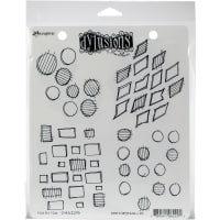 "Dyan Reaveley's Dylusions Cling Stamp Collections 8.5""X7""-Four By Four"