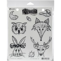 "Dyan Reaveley's Dylusions Cling Stamp Collections 8.5""X7""-Heads N Tails"