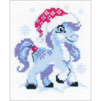 "RIOLIS Counted Cross Stitch Kit 6.25""x5""-Gentle Snow (10 Count)"