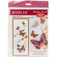 """RIOLIS Counted Cross Stitch Kit 8.75""""X19.75""""-Russian Butterflies (15 Count)"""