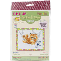 "RIOLIS Counted Cross Stitch Kit 6.25""x5""-Quiet Time (14 Count)"