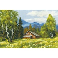 "RIOLIS Counted Cross Stitch Kit 15""X10.25""-Swiss Chalet (14 Count)"