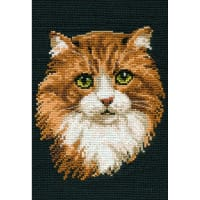 """RIOLIS Counted Cross Stitch Kit 8.25""""X11.75""""-Red Cat (10 Count)"""