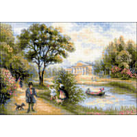 "RIOLIS Counted Cross Stitch Kit 15""X10.25""-Walk In The Park (10 Count)"