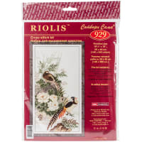 "RIOLIS Counted Cross Stitch Kit 10.25""X19""-Pheasants (14 Count)"