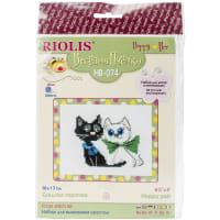 "RIOLIS Counted Cross Stitch Kit 6.25""x5""-Happy Pair (10 Count)"