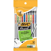 BIC Xtra Life Mechanical Pencils 10/Pkg-Clear Barrels