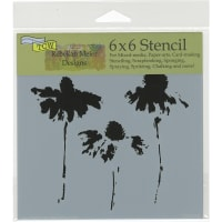 """Crafter's Workshop Template 6""""X6""""-Cone Flowers"""