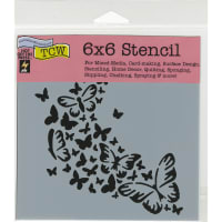 """Crafter's Workshop Template 6""""X6""""-Butterfly Trail"""