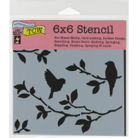 """Crafter's Workshop Template 6""""X6""""-Birds On Branches"""
