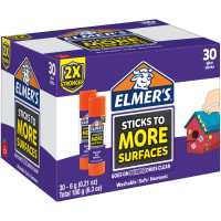 Elmers Extra Strength Glue Sticks 30/Pkg-.21oz Each