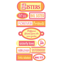 SandyLion Essentials Dimensional Stickers-Sisters