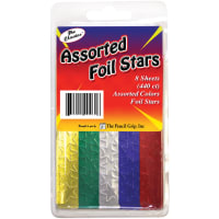 Foil Star Stickers 440/Pkg-Assorted