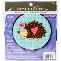 "Dimensions/Learn-A-Craft Felt Applique Kit 6"" Round-Hedgehog"