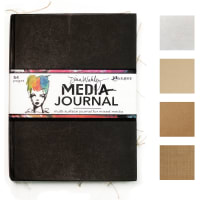 "Dina Wakley Media Journal 8""X10""-Black"
