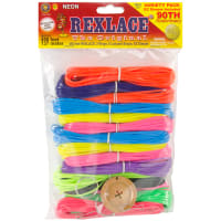 Rexlace Plastic Lacing Variety Pack-Neon
