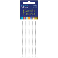 Mark Richards Crystal Stickers Elements 2mm Round 160/Pkg-Clear