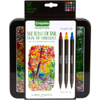 Crayola Signature Sketch & Detail Dual-Tip Markers W/Tin-Assorted Colors 16/Pkg