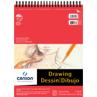 """Canson Foundation Series Spiral Drawing Pad 11""""X14""""-30 Sheets"""