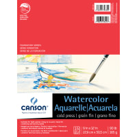 """Canson Foundation Series Watercolor Pad 9""""X12""""-15 Sheets"""