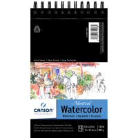 """Canson Montval Spiral Watercolor Pad 5.5""""X8.5""""-12 Sheets"""