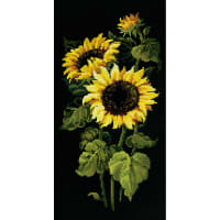 """RIOLIS Counted Cross Stitch Kit 9.75""""X19.75""""-Sunflowers (10 Count)"""