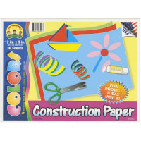 "Construction Paper Pad 12""X9""-36 Sheets"