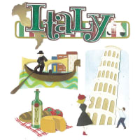 Jolee's Boutique Dimensional Stickers-Italy