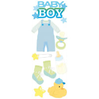 Touch Of Jolee's Dimensional Stickers-Baby Boy