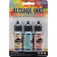 Tim Holtz Alcohol Ink .5oz 3/Pkg-Lakeshore-Sandal/Aqua/Salmon