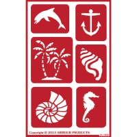 "Over 'N' Over Reusable Stencils 5""X8""-Seashore"