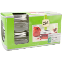 Ball(R) Wide Mouth Canning Jars 4/Pkg-1/2 Pint, 8oz