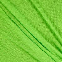 Fabric Merchants Waffle Stretch Knit Solid Neon Green