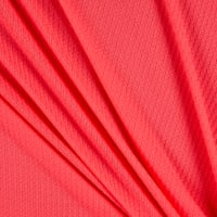Fabric Merchants Waffle Stretch Knit Solid Neon Pink