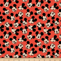 Disney Mickey Face Toss Red