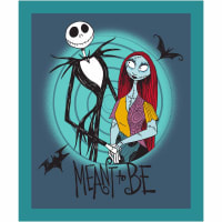 "Disney Nightmare Before Christmas Meant To Be 36"" Panel Teal"