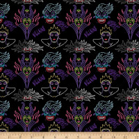 Disney Villains Villain Outline Black