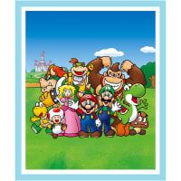"Nintendo Super Mario And Friends 36"" Panel Light Teal"