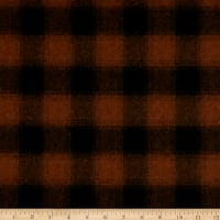 Telio Willow Wool Blend Buffalo Check Rust/Black